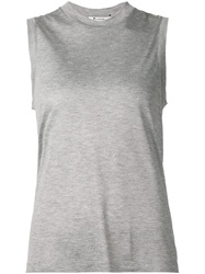 T By Alexander Wang Round Neck Tank Top Grey