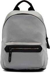 Lanvin Grey Patches Zipped Backpack