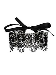 Amrita Singh Beaded Lace Choker Necklace Black