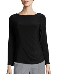 Marina Scoopback Long Sleeved Evening Top Black