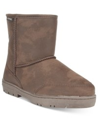 Bearpaw Patriot Suede Boots Men's Shoes Chocolate