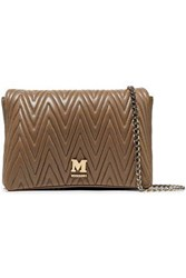 M Missoni Woman Quilted Faux Leather Shoulder Bag Neutral