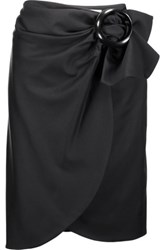 J.W.Anderson Wrap Effect Cotton Blend Skirt Black