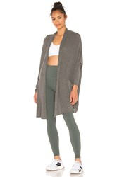 Beyond Yoga Brushed Up Easy Rider Origami Cardigan Gray