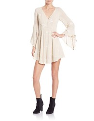 Free People Jasmine Embroidered Dress Almond Combo