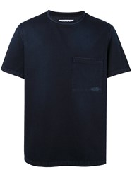 Msgm Denim Effect T Shirt Blue