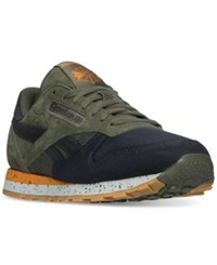 Reebok Men's Classic Leather Sm Casual Sneakers From Finish Line Hunter Green Lead Bright