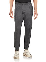 Dsquared Pleated Elastic Waist Virgin Wool Blend Pants Dark Grey