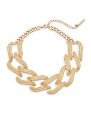 Saks Fifth Avenue Linked Choker Gold