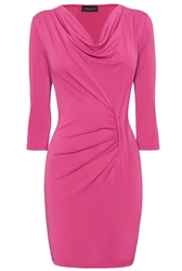 James Lakeland Cowl Neck Pleat Tunic Pink