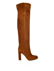 Gianvito Rossi Suede Slouchy Knee Boots