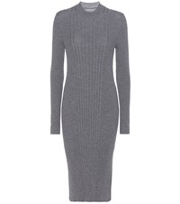 Maison Martin Margiela Ribbed Wool Dress Grey