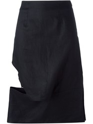 Eckhaus Latta Asymmetric Cut Out Skirt Black