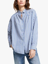And Or Abby Stripe Shirt Blue White