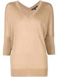 Derek Lam V Neck Sweater Brown