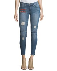 Etienne Marcel Gigi Low Rise Skinny Denim Jeans W Novelty Details Light Blue