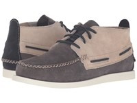 Sperry A O Wedge Chukka Suede Grey White Men's Lace Up Casual Shoes Gray