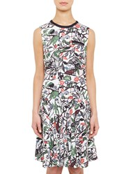 Ted Baker Colour By Numbers Lockett Bias Cut Drop Waist Dress Grey