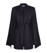 Finders Keepers Best Kind Tie Waist Cape Female Navy