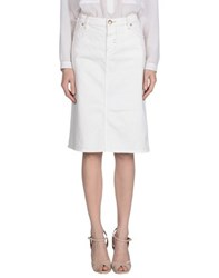 Ajay Skirts Knee Length Skirts Women Ivory