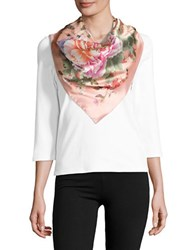 Collection 18 Floral Scarf Coral
