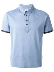 C.P. Company Cp Company Short Sleeved Polo Shirt Blue