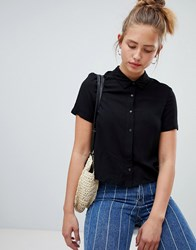 Pull And Bear Pullandbear Tie Front Blouse In Black