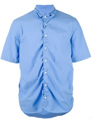 Marni Ruched Short Sleeve Shirt Blue