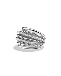 Crossover Ring With Diamonds David Yurman