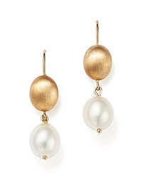 Bloomingdale's Cultured Freshwater Pearl Drop Earrings In 14K Yellow Gold 11Mm White Gold