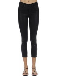 L'agence Margot Coated High Rise Stretch Jeans Black