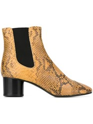 Isabel Marant A Toile 'Danae' Boots Yellow And Orange