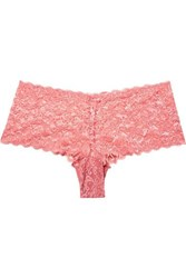 Hanro Moments Stretch Lace Briefs Antique Rose