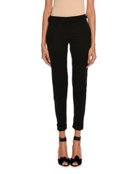Tom Ford Slim Fit Gabardine Cuffed Pants Black