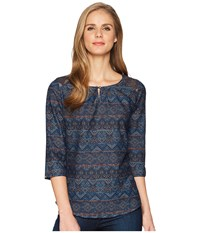 Kuhl Flora 3 4 Sleeve Slate Blue Clothing