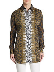 Versus By Versace Border Print Stretch Cotton Tunic