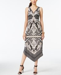 Inc International Concepts Printed Asymmetrical Hem Maxi Dress Only At Macy's