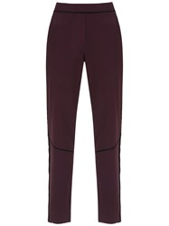 Mara Mac Formal Panelled Trousers Red