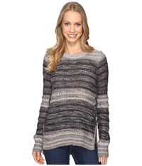 Lucky Brand Striped Lace Up Pullover Multi Stripe Women's Clothing