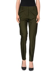 Piazza Sempione Trousers Casual Trousers Women Military Green