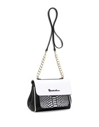 Braccialini Chiara Tonal Leather Shoulder Bag White