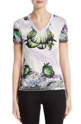 Versace Women's Collection Print Jersey Tee