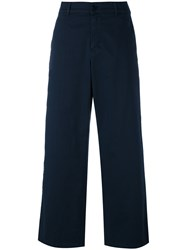 Barena Wide Leg Trousers Blue