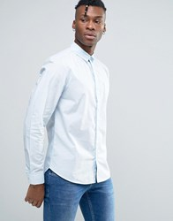 Bellfield Shirt In Washed Cotton In Regular Fit Pale Blue