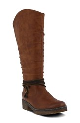 Spring Step Vanquish Knee High Boot Camel Faux Leather