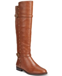 Inc International Concepts Ameliee Riding Boots Only At Macy's Women's Shoes Cognac