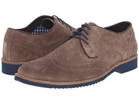 Lotus Robson Stone Suede Men's Lace Up Wing Tip Shoes Gray