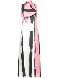 Christopher Esber Patterned Colour Block Maxi Dress Pink And Purple