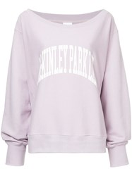 Cityshop Uni Print Sweatshirt Pink And Purple