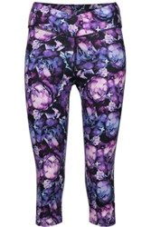 Yummie Tummie By Heather Thomson Candace Cropped Printed Stretch Cotton Leggings Multi